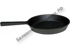 Сковорода чугунная 220/30-1 с литой ручкой