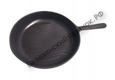 Сковорода-гриль чугунная Г-240/40-1 с литой ручкой