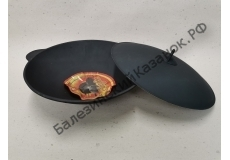 Сковорода чугунная ВОК с алюминиевой крышкой