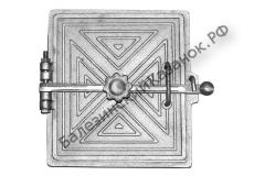 Дверка топочная уплотненная с отражателем ДТУ-2 (323*305 мм))